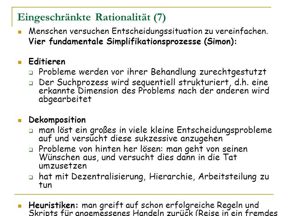 Eingeschränkte Rationalität (7)