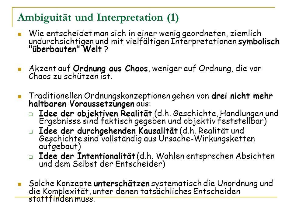 Ambiguität und Interpretation (1)