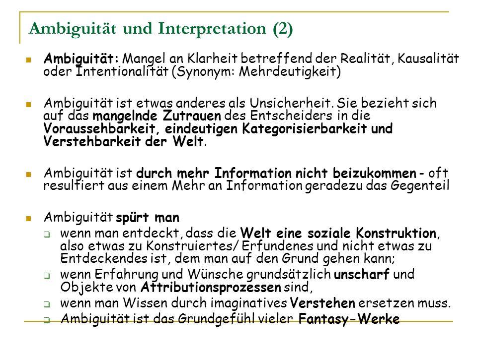 Ambiguität und Interpretation (2)