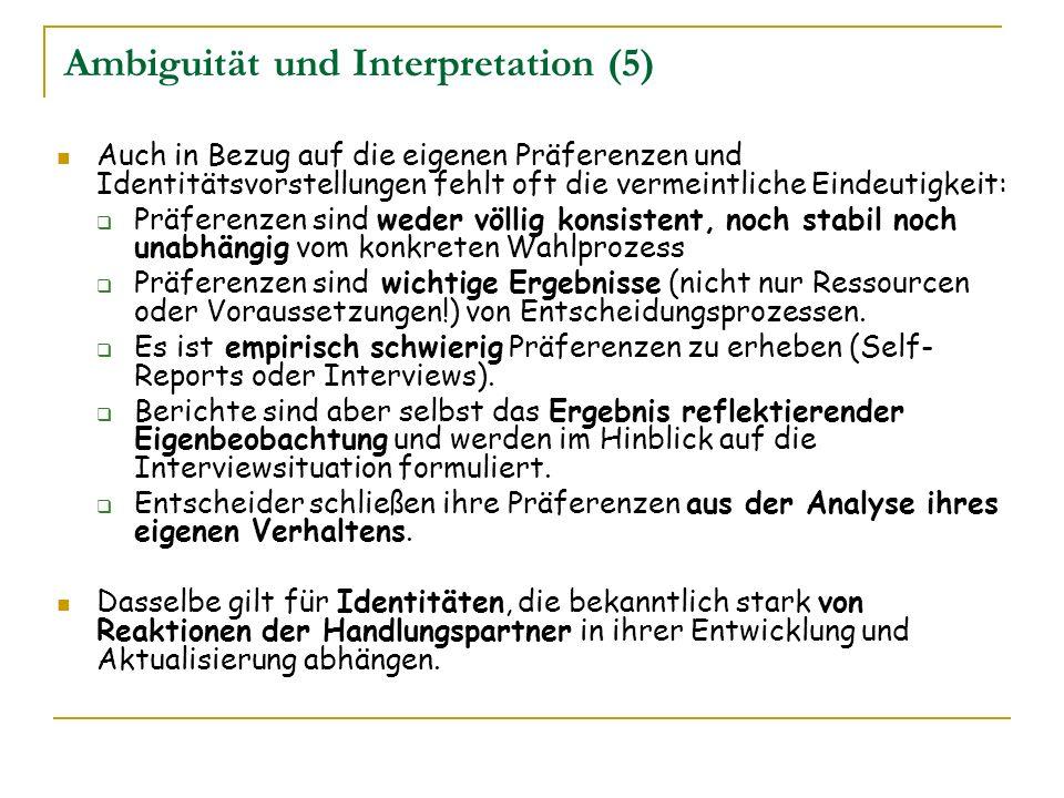 Ambiguität und Interpretation (5)