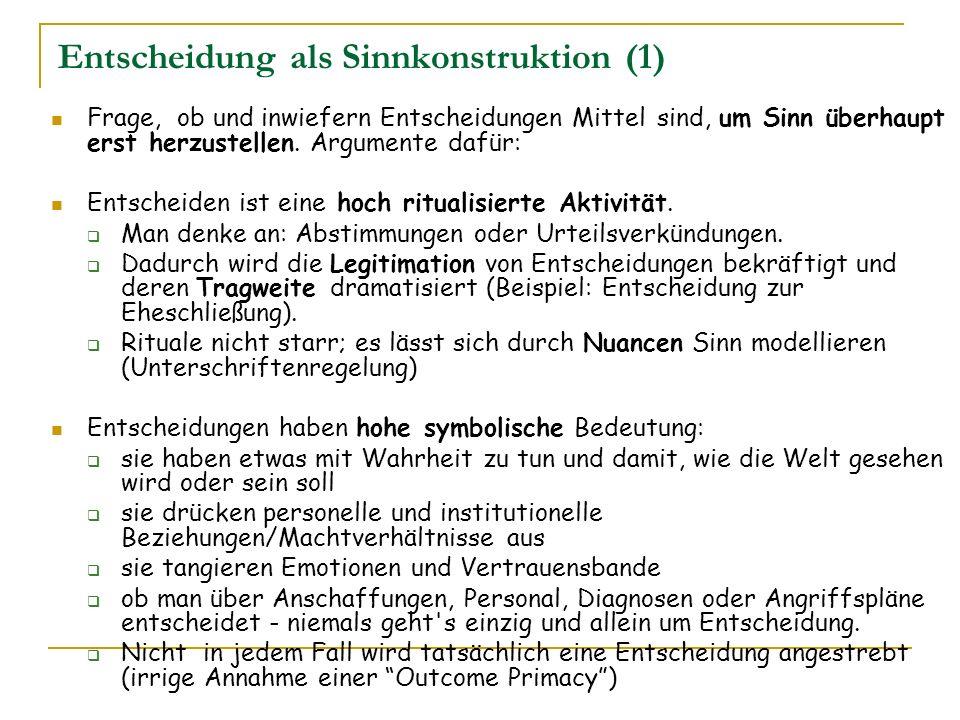 Entscheidung als Sinnkonstruktion (1)