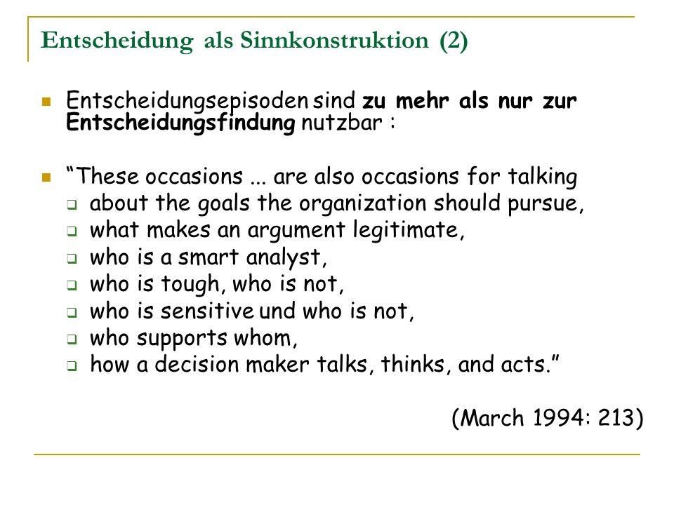 Entscheidung als Sinnkonstruktion (2)