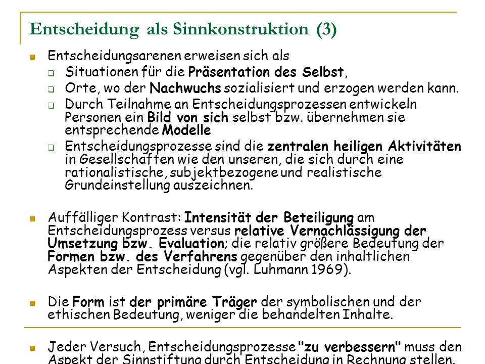 Entscheidung als Sinnkonstruktion (3)