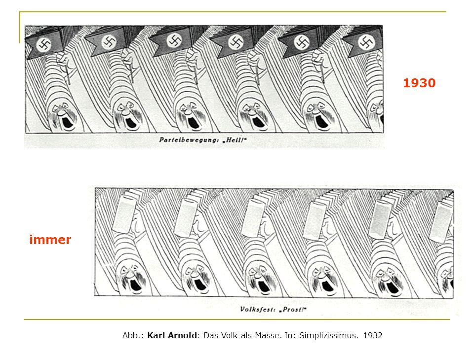 1930 immer Abb.: Karl Arnold: Das Volk als Masse. In: Simplizissimus. 1932