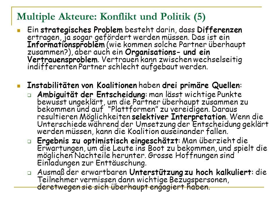 Multiple Akteure: Konflikt und Politik (5)