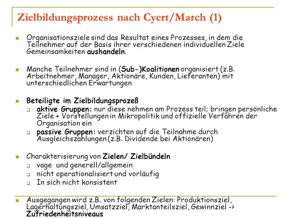 Zielbildungsprozess nach Cyert/March (1)