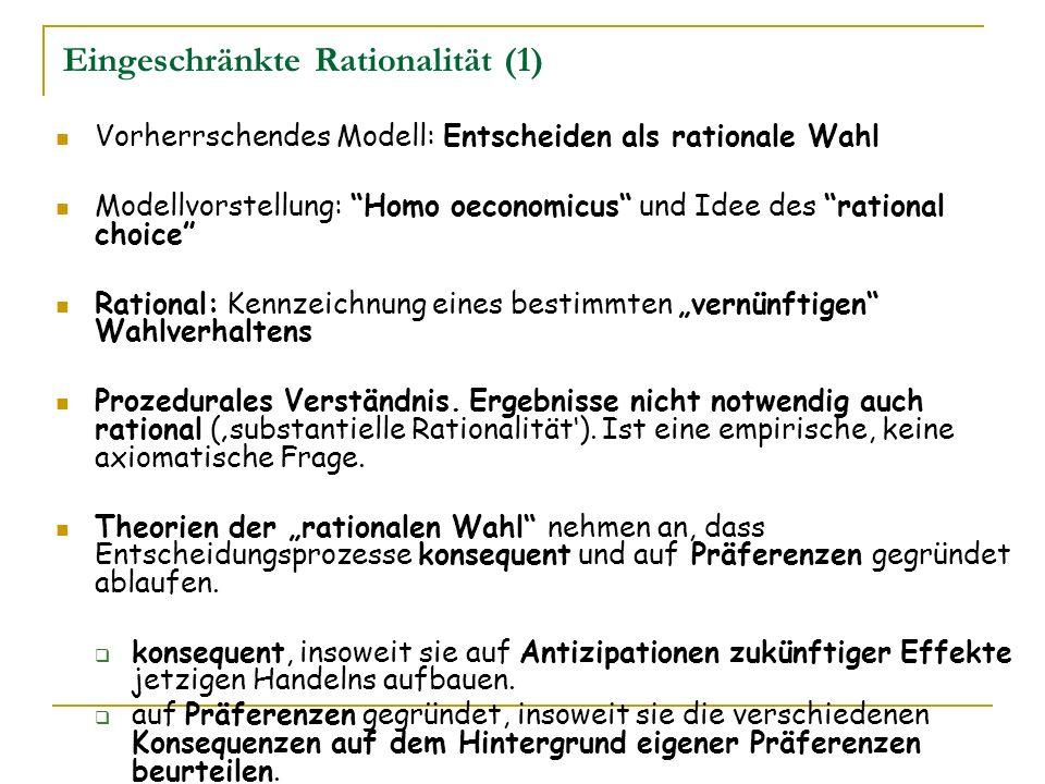Eingeschränkte Rationalität (1)