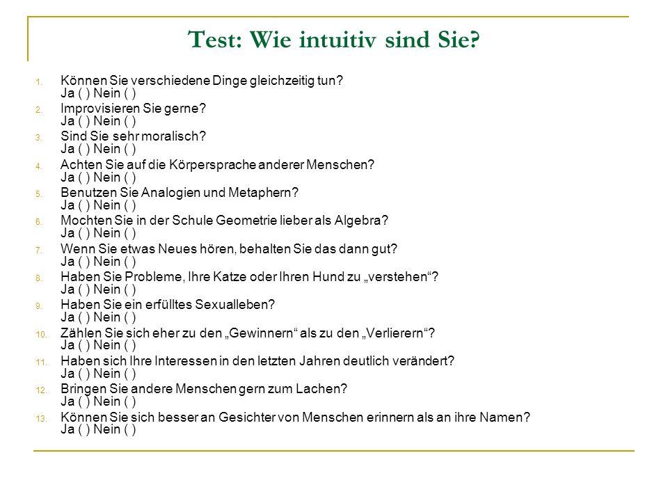 Test: Wie intuitiv sind Sie