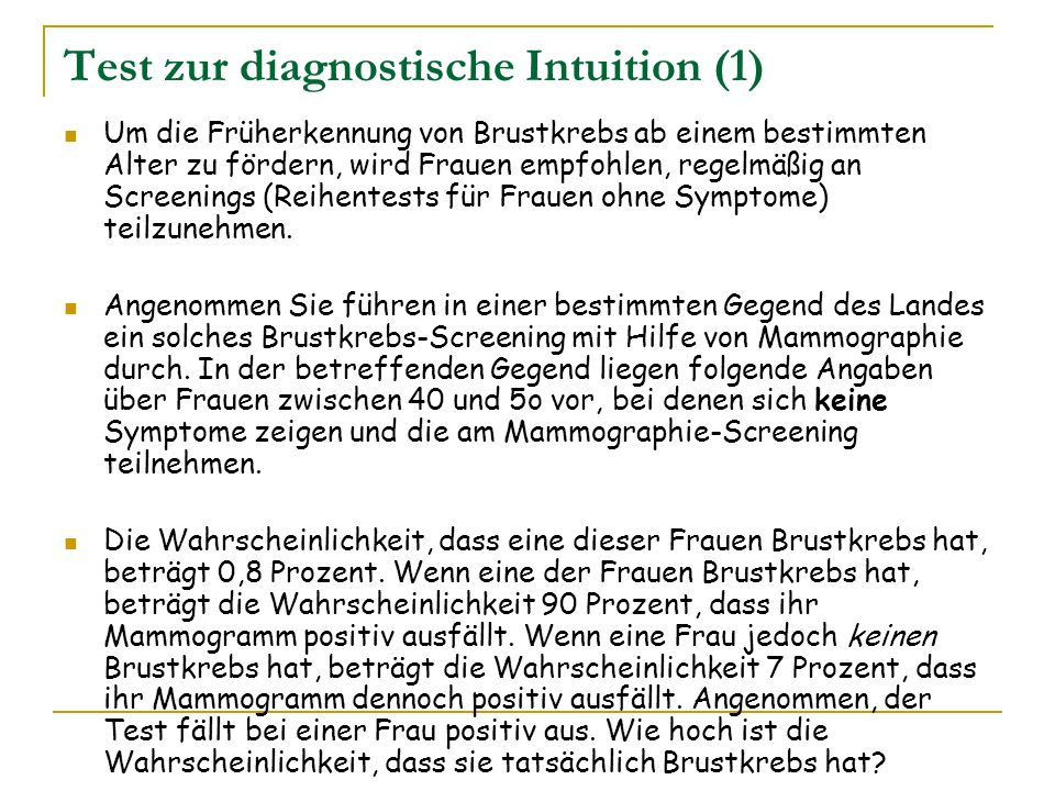 Test zur diagnostische Intuition (1)