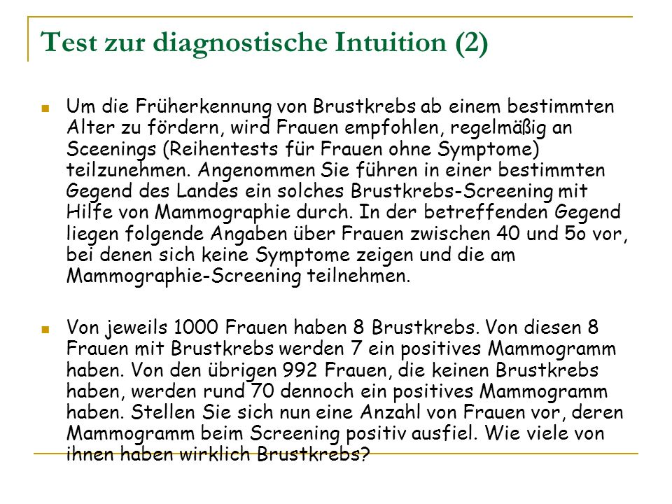 Test zur diagnostische Intuition (2)