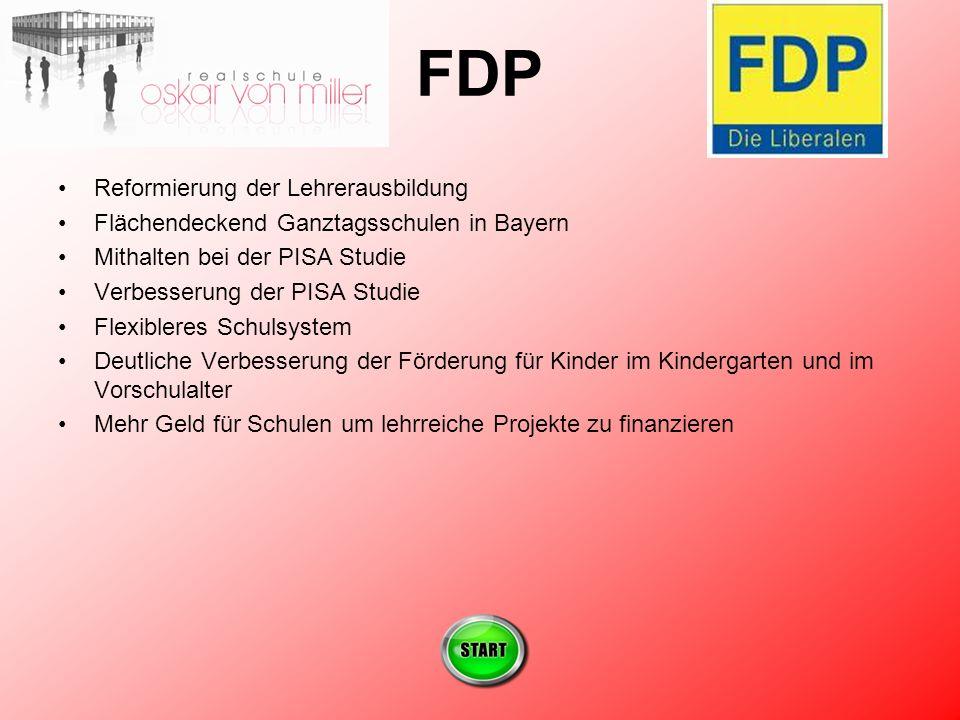 FDP Reformierung der Lehrerausbildung