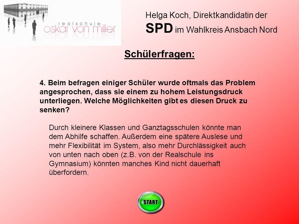 Helga Koch, Direktkandidatin der SPD im Wahlkreis Ansbach Nord