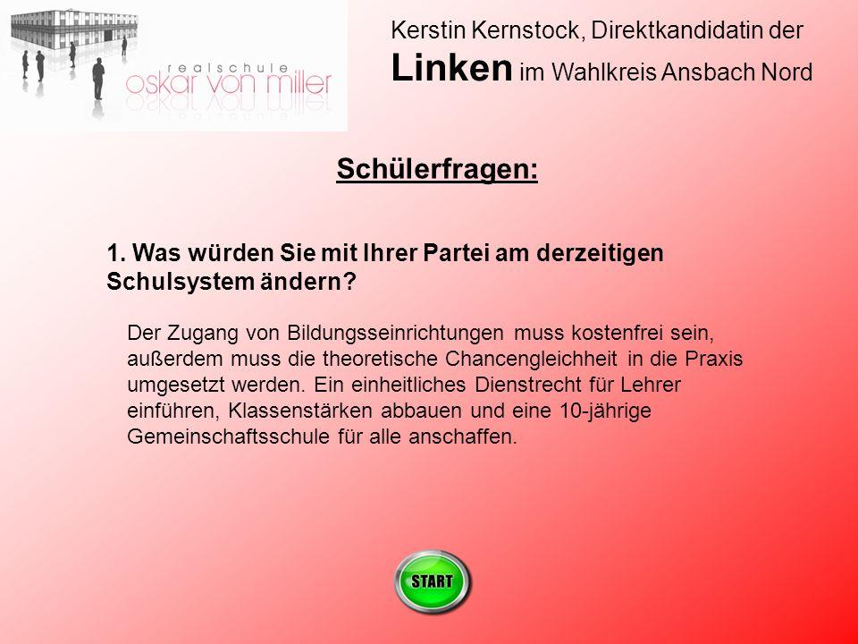 Kerstin Kernstock, Direktkandidatin der Linken im Wahlkreis Ansbach Nord