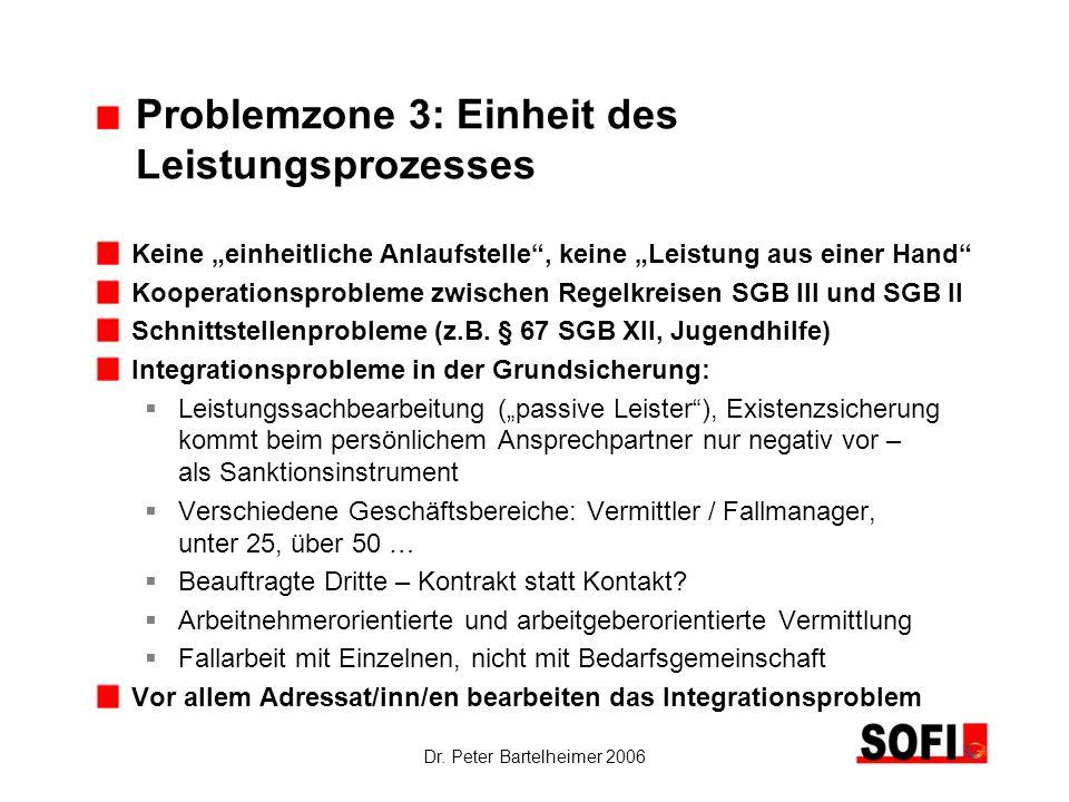 Problemzone 3: Einheit des Leistungsprozesses