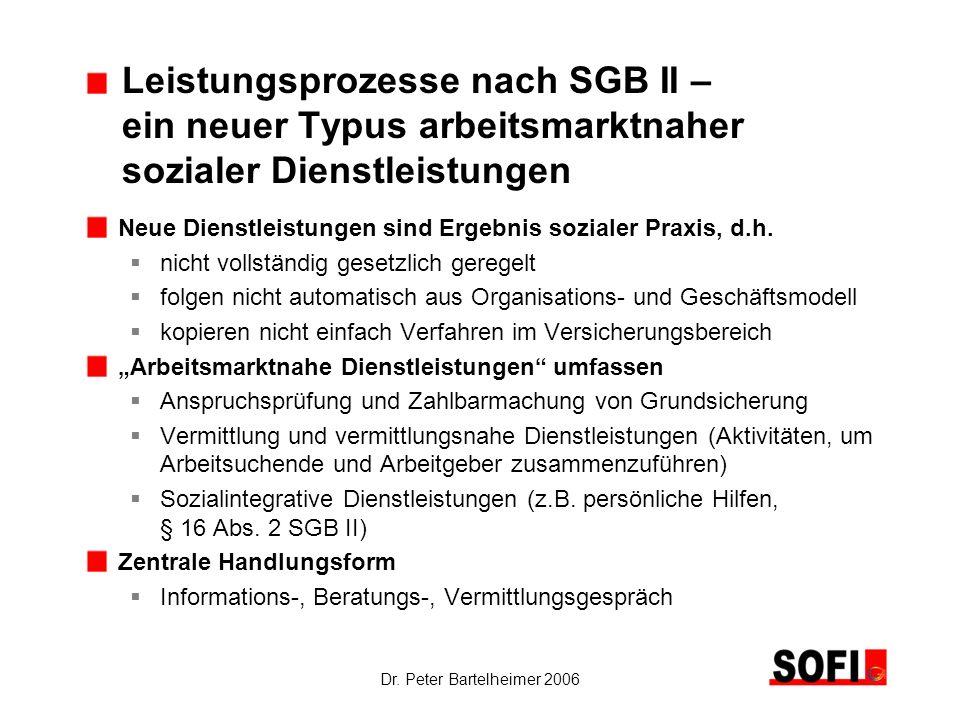 Leistungsprozesse nach SGB II –. ein neuer Typus arbeitsmarktnaher