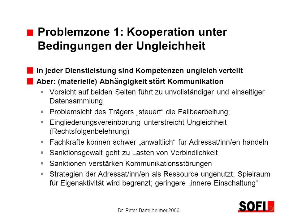 Problemzone 1: Kooperation unter Bedingungen der Ungleichheit