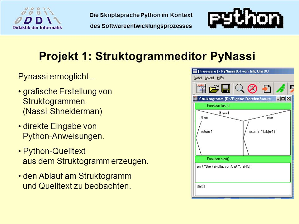 Projekt 1: Struktogrammeditor PyNassi