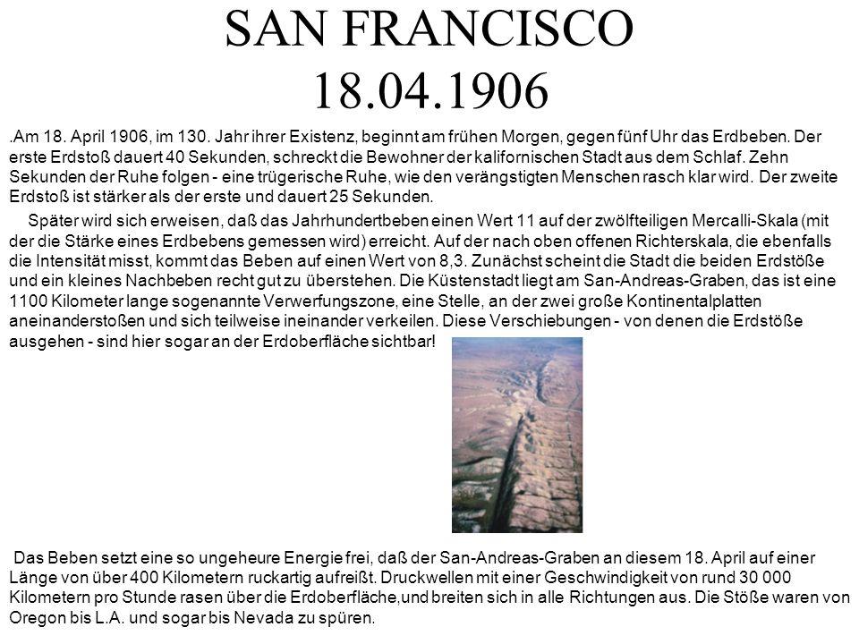 SAN FRANCISCO 18.04.1906