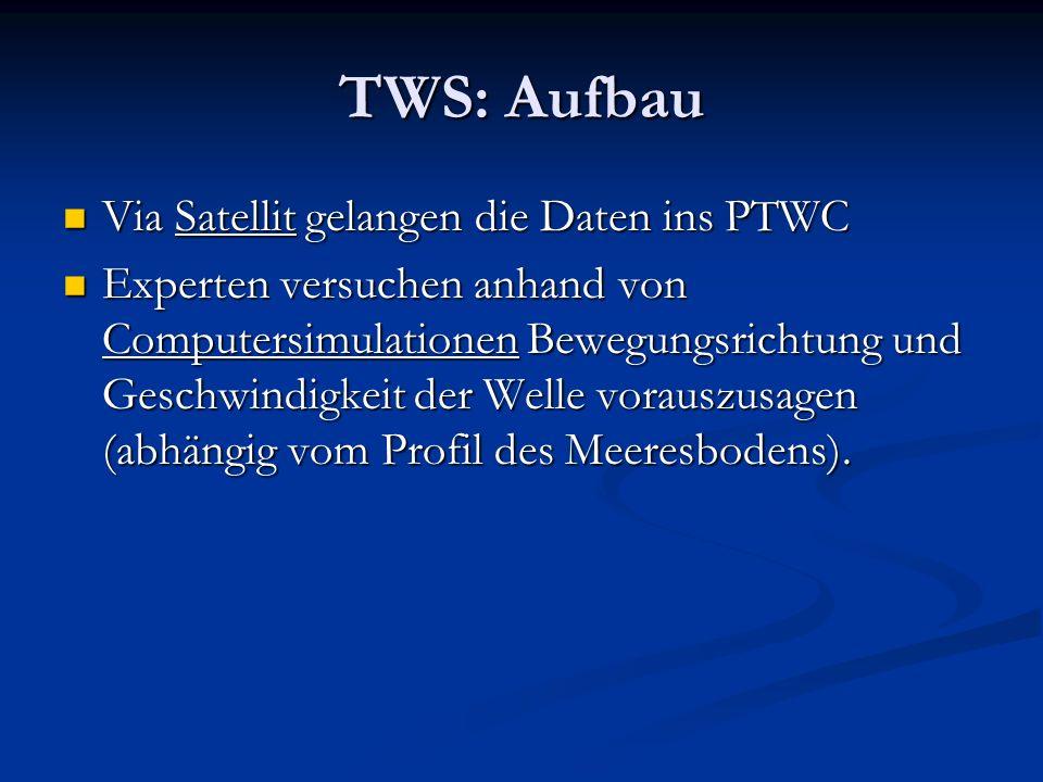 TWS: Aufbau Via Satellit gelangen die Daten ins PTWC