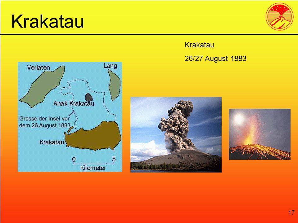 Krakatau Krakatau 26/27 August 1883