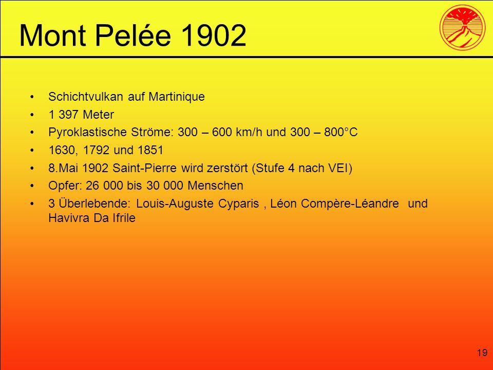 Mont Pelée 1902 Schichtvulkan auf Martinique 1 397 Meter