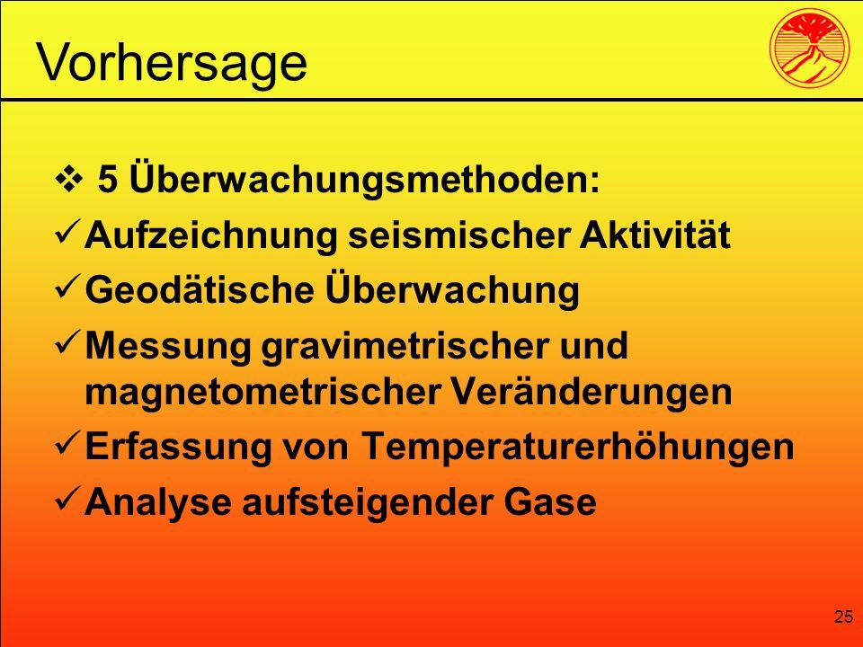 Vorhersage 5 Überwachungsmethoden: Aufzeichnung seismischer Aktivität