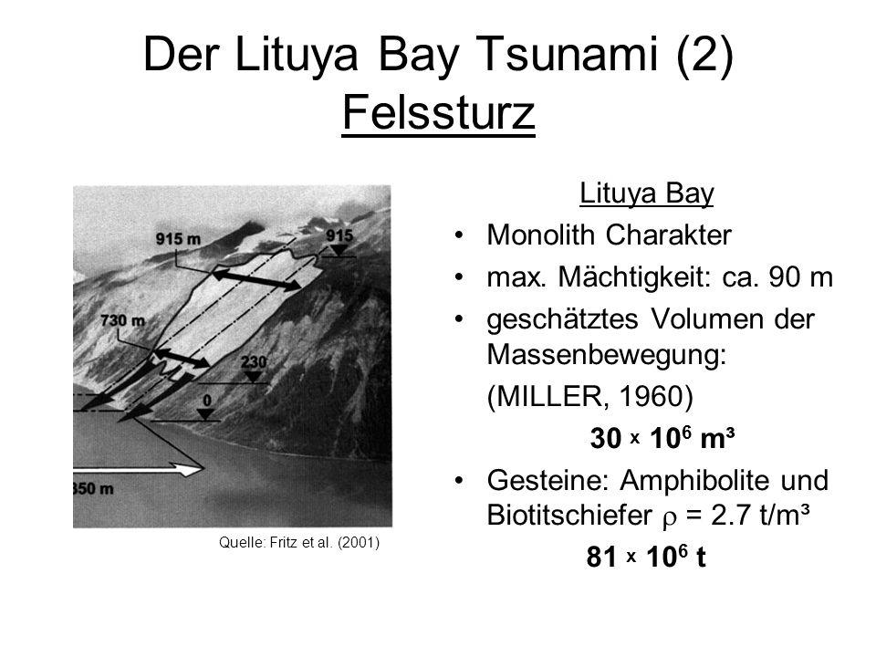 Der Lituya Bay Tsunami (2) Felssturz