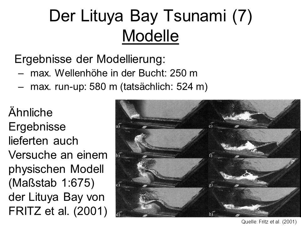 Der Lituya Bay Tsunami (7) Modelle