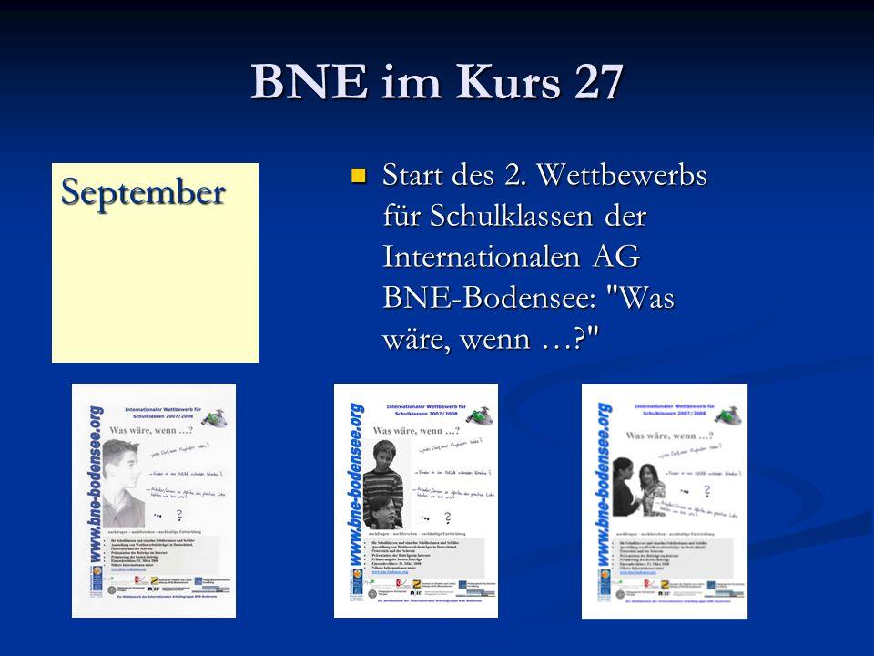 BNE im Kurs 27 Start des 2. Wettbewerbs für Schulklassen der Internationalen AG BNE-Bodensee: Was wäre, wenn …