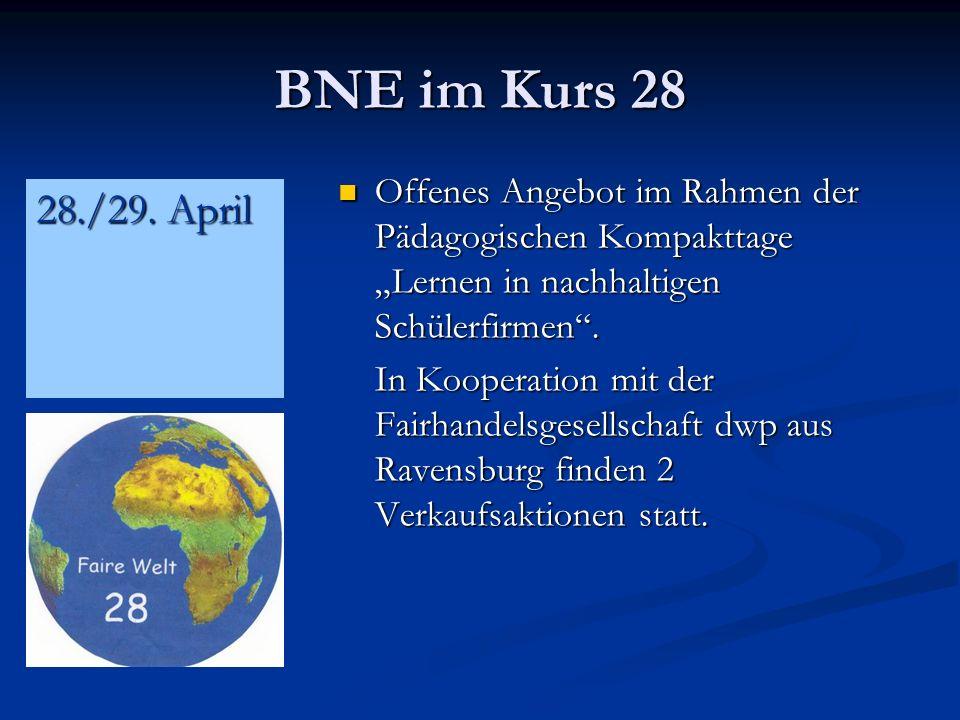 """BNE im Kurs 28 Offenes Angebot im Rahmen der Pädagogischen Kompakttage """"Lernen in nachhaltigen Schülerfirmen ."""