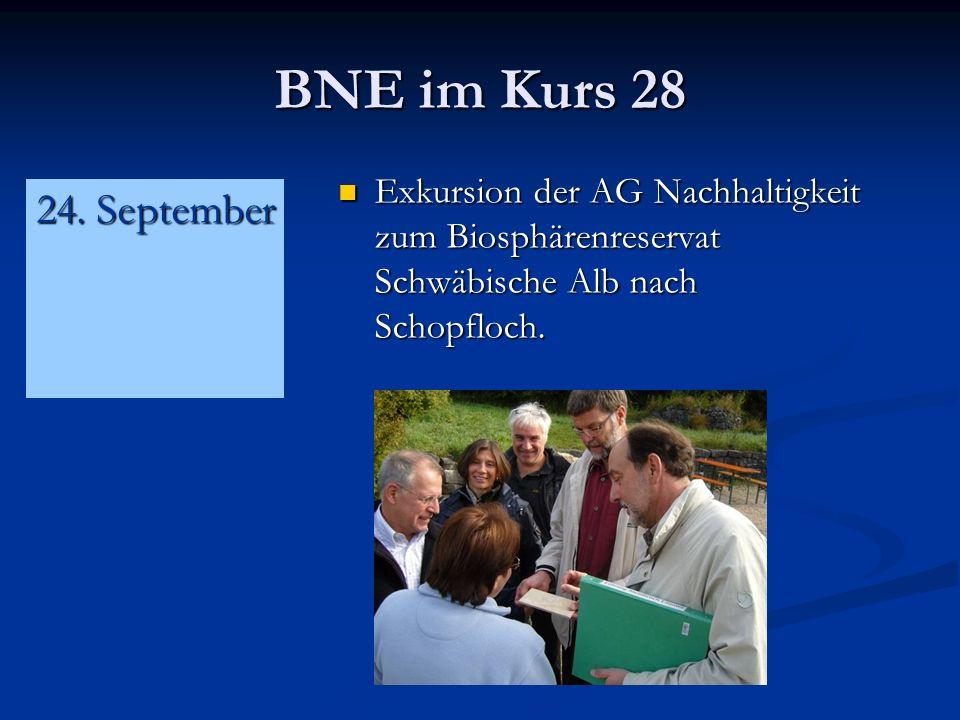 BNE im Kurs 28 Exkursion der AG Nachhaltigkeit zum Biosphärenreservat Schwäbische Alb nach Schopfloch.