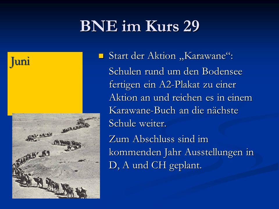 """BNE im Kurs 29 Juni Start der Aktion """"Karawane :"""