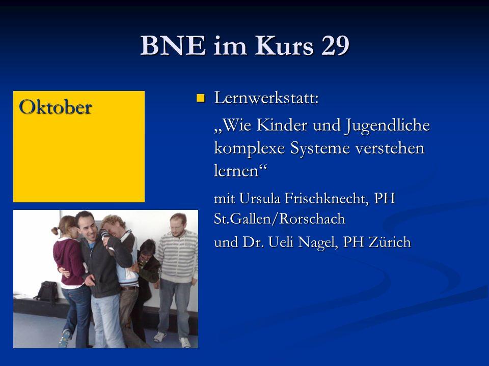 BNE im Kurs 29 Oktober Lernwerkstatt: