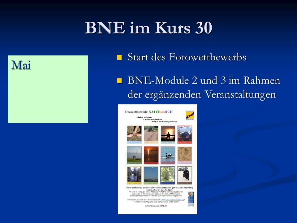 BNE im Kurs 30 Mai Start des Fotowettbewerbs