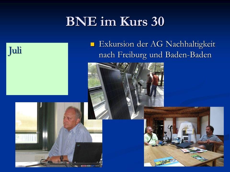 BNE im Kurs 30 Exkursion der AG Nachhaltigkeit nach Freiburg und Baden-Baden Juli