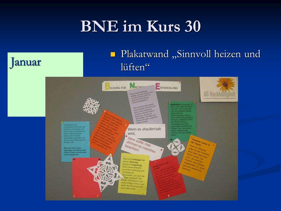"BNE im Kurs 30 Plakatwand ""Sinnvoll heizen und lüften Januar"