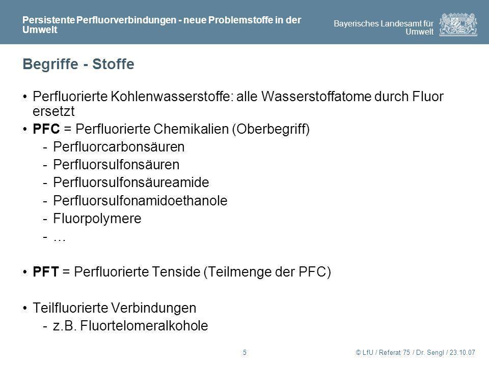 Persistente Perfluorverbindungen - neue Problemstoffe in der Umwelt