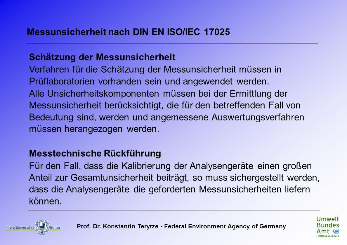 Messunsicherheit nach DIN EN ISO/IEC 17025