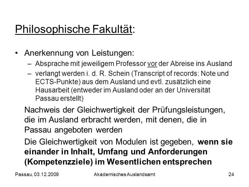 Philosophische Fakultät: