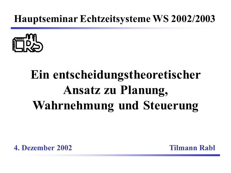 Hauptseminar Echtzeitsysteme WS 2002/2003