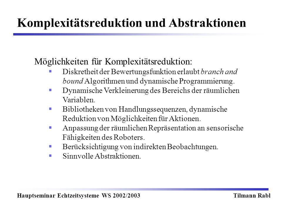 Komplexitätsreduktion und Abstraktionen