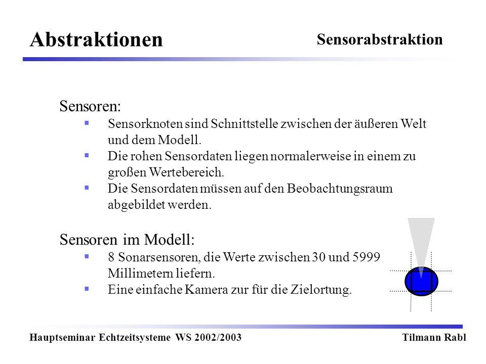 Abstraktionen Sensorabstraktion Sensoren: Sensoren im Modell:
