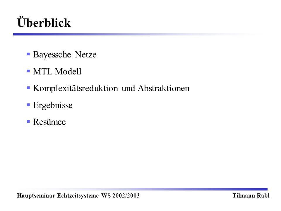Überblick Bayessche Netze MTL Modell