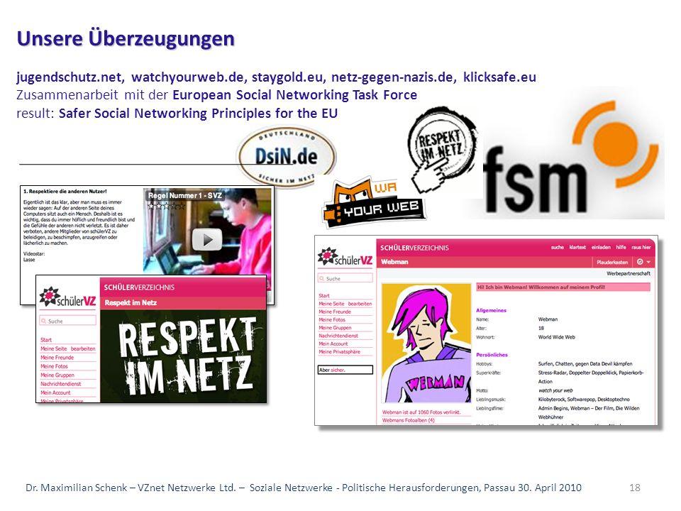 Unsere Überzeugungen jugendschutz. net, watchyourweb. de, staygold