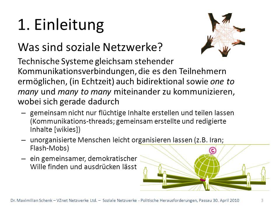 1. Einleitung Was sind soziale Netzwerke