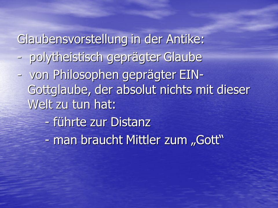 Glaubensvorstellung in der Antike: