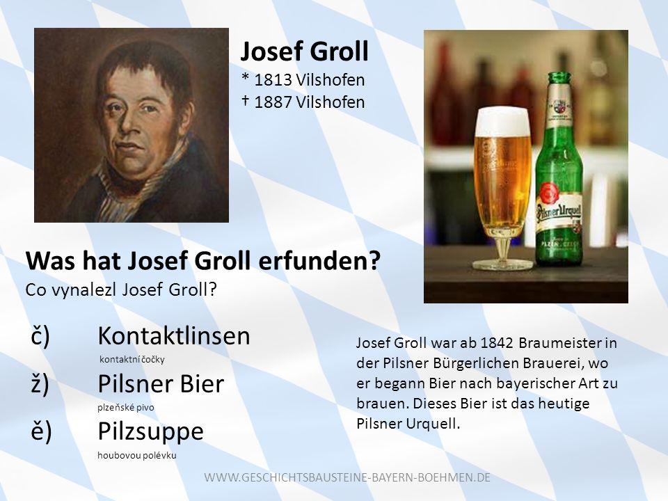 Josef Groll * 1813 Vilshofen † 1887 Vilshofen