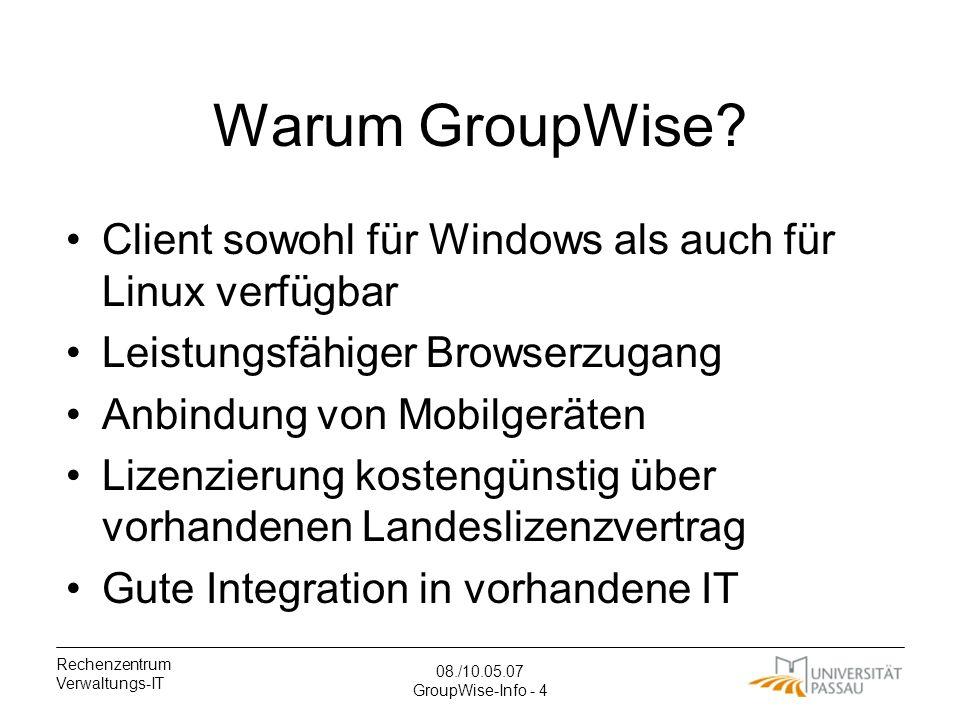 Warum GroupWise Client sowohl für Windows als auch für Linux verfügbar. Leistungsfähiger Browserzugang.