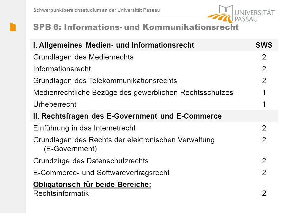 SPB 6: Informations- und Kommunikationsrecht