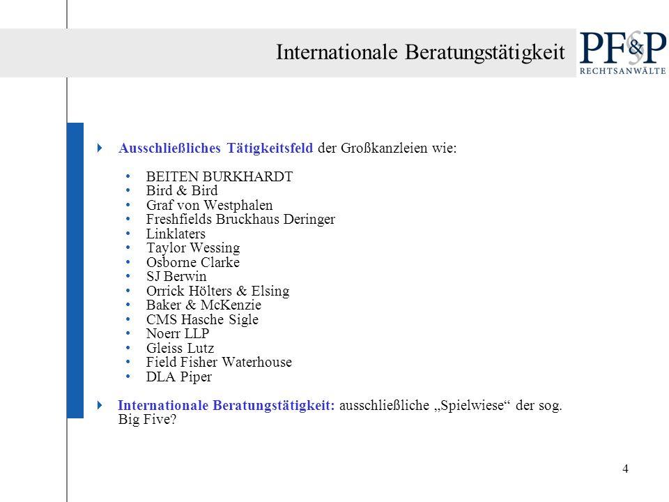 Internationale Beratungstätigkeit